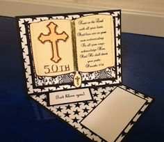 Cricut Craft - Bible Card using Twisted Easel Style.  Cartridges used Heritage and New Testament.