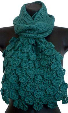 Fleurette Tunisian Crochet Scarf downloadable crochet pattern by TurquoizBlue for This Is Crochet