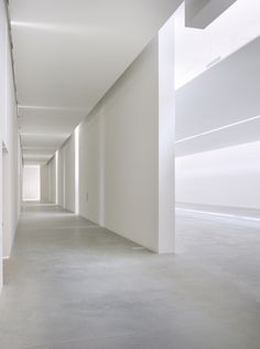 Concrete floor with plaster walls. Nice.