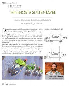 DIY mini-horta vertical sustentável