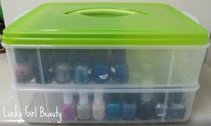 Lucky Girl Beauty: How to organize and store you nail polishes