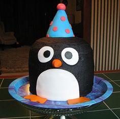 penguin cake!!
