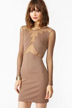 Winged Mesh Dress