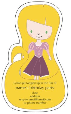 Tangled Party invites. So cute!