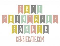 {free} printable banner