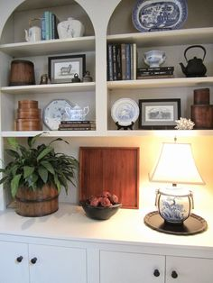 Bookcase Styling 1-2-3