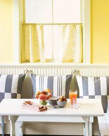 idea, hang pillow, dine room, breakfast nooks, nook pillow, dining nook, kitchen, dine nook, pillows