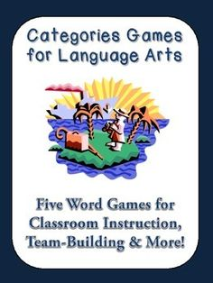 """FREEBIE! This is a bundle of fun games you can play in a Language Arts/English classroom to build vocabulary skills or as icebreakers. The topics include """"TROPICAL,"""" HALLOWEEN,"""" """"WINTER,"""" """"BASKETBALL,"""" and """"SPRING.""""   Students must match appropriate words with the categories provided. The categories are diverse (a bit like the game Scattergories but more accessible for all types of learners)."""