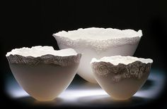 Bone china and paperslip by Angela Mellor