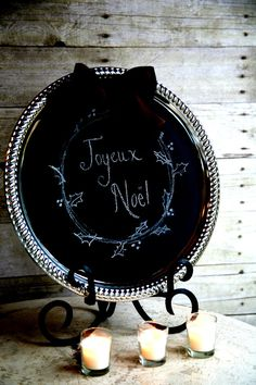 Wedding French Tuscan Old World Chalkboard 30.00 by miekekanis