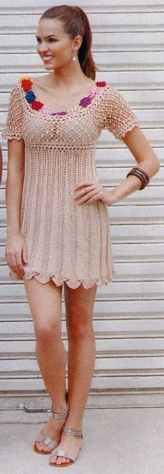 Beige dress with diagram