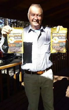 Another happy customer, Ron loves eating SNATCH jerky...