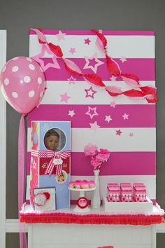 American Girl Doll Birthday Party via Kara's Party Ideas | Kara'sPartyIdeas.com #Pink #Doll #PartyIdeas #Supplies (29)
