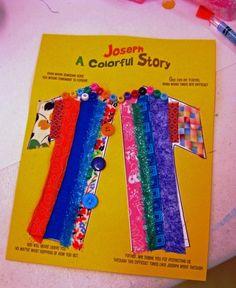 coat of many colors craft, genesis 37 craft, joseph coat, color crafts