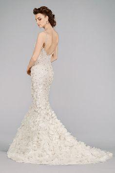 Beautiful mermaid style wedding dress. Lazaro, Fall 2014