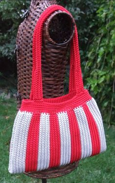 simple striped bag