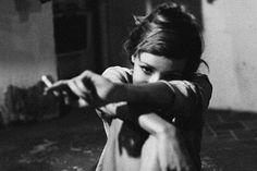 beautiful woman actress smoking a cigarette in a shy way :)  http://socialsmoking.com if you smoke.