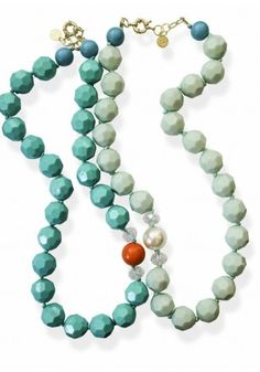 Let others be green with envy over your Amy #Statement Necklaces in turquoise or mint! #SwellCarolineTheCollection