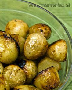 cartofi la cuptor cu sos de soia