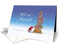 Christmas - We've moved! | Greeting Card Universe by Gerda Steiner