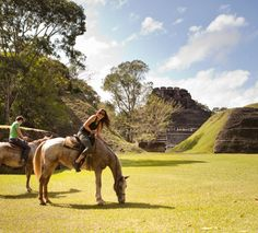 Ride a horse to Mayan Ruins. Only in Belize. #xoBelize