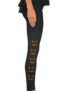 These spooky Jack-O-Lantern tights can be paired with your favorite LBD!
