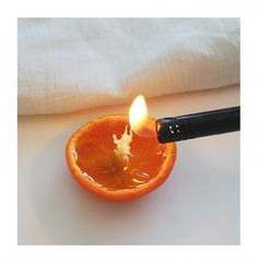 #DIY Clementine Candle.