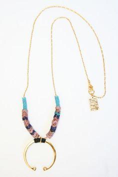 Lizzie Fortunato Crescent Necklace via Beklina