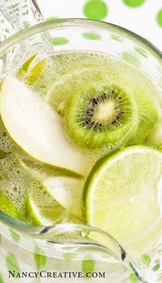 Pear, Lime, Kiwi Fruit Water