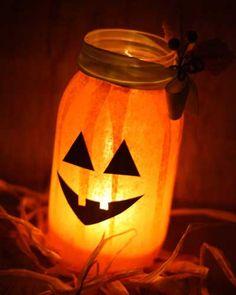 DIY Halloween Decorations - Mason Jar Luminaries