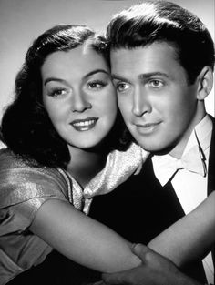 rosalind russell #james stewart. What a great picture