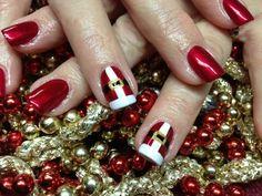 father christmas, shades of red, nail designs, nail art designs, christmas nails, red nails, nail arts, santa nail, christma nail