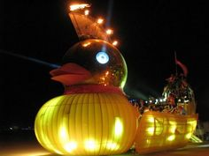 Burning Man Duck