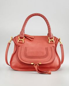 Marcie Shoulder Bag, Medium by Chloe at Neiman Marcus.  PERFECT, for a sunny fall day. Coral is such an statement color, perfect for fall! #NMFallTrends