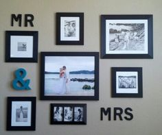 Picture frame collage cute idea