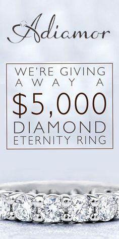 Get in to #Win a $5000 #Diamond Eternity Band! #ring #jewelry #sweeps