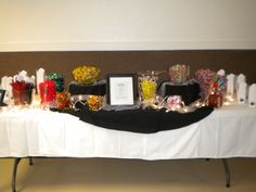 The Candy Bar at my Dads 75th Birthday Party