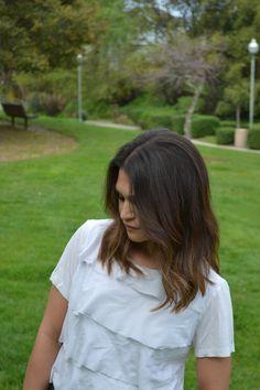 long bob + brunette ombre