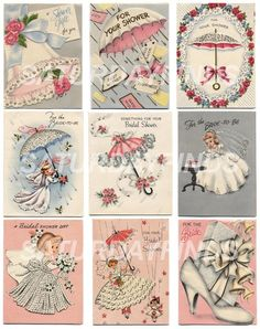 Vintage bridal shower invites!