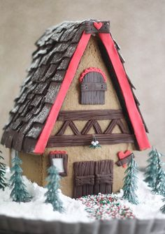Stunning gingerbread house by Sprinkles Bakes