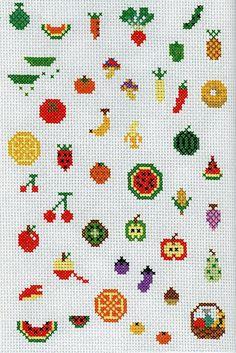 fruit cross stitch
