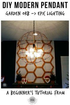 DIY Modern Pendant Light