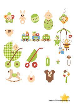 Baby shower verde para imprimir - Imagenes y dibujos para imprimir