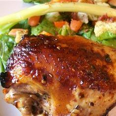Balsamic Marinated Chicken - I use chicken tenders, add a few pineapple chunks and serve over rice medley.