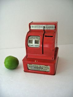 vintage 50s 60s Uncle Sams Bank Cash Register by ObjectRetro, $22.00