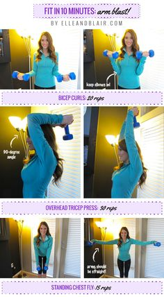 Get toned arms in 10 minutes with this arm blast workout!