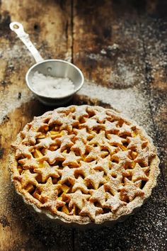 All American apple pie with Stars instead of lattice work.