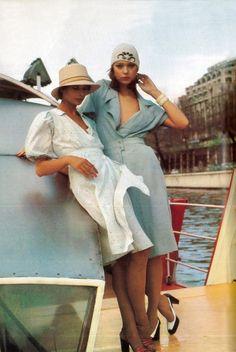 February 1974 - Paris Vogue #fashion #vintage #dress #1970s #70s #style