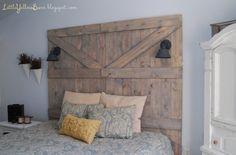 Make a barn-door headboard headboard idea, barn doors, pallet headboard, door headboards, diy headboards, headboard diy, wooden doors, bedroom, old barns