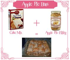 apple pie bars. YUM! SO easy.